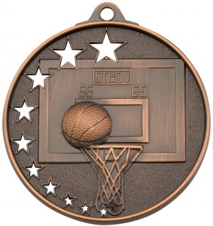 Basketball Stars Medal Bronze