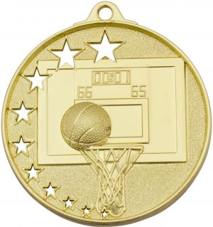 Basketball Stars Medal Gold
