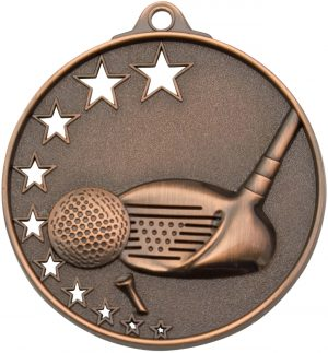 Golf Stars Medal Bronze