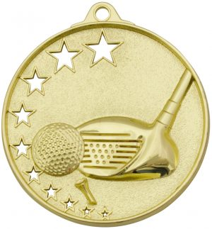 Golf Stars Medal Gold