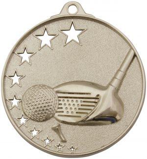 Golf Stars Medal Silver