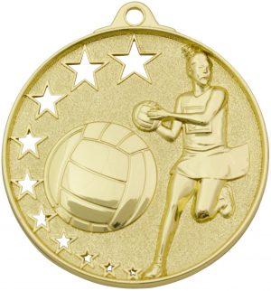 Netball Stars Medal Gold