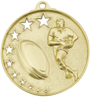 Rugby Stars Medal Gold