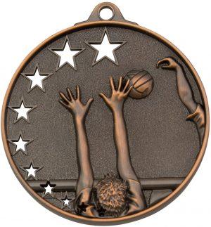 Volleyball Stars Medal Bronze