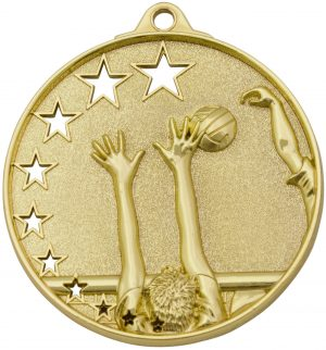 Volleyball Stars Medal Gold