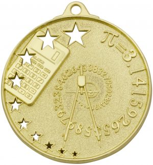 Maths Stars Medal Gold