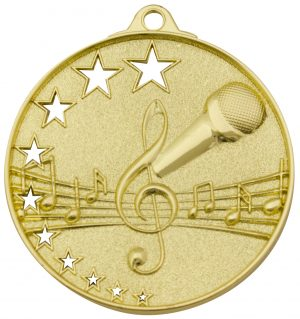 Music Stars Medal Gold