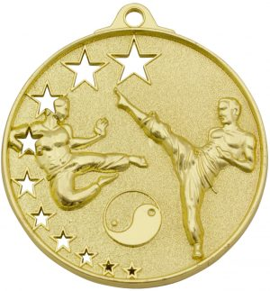 Karate Stars Medal Gold