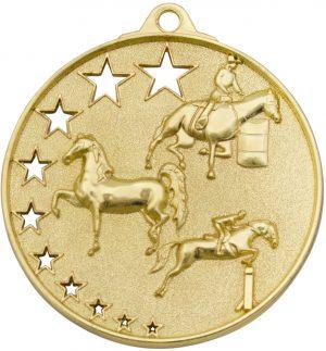 Horse Stars Medal Gold