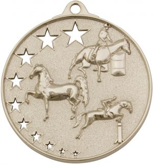 Horse Stars Medal Silver