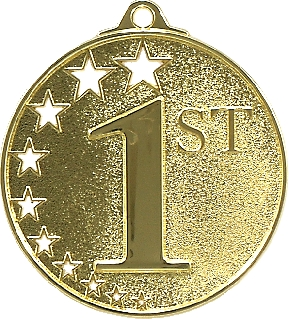 First Place Stars Medal Gold