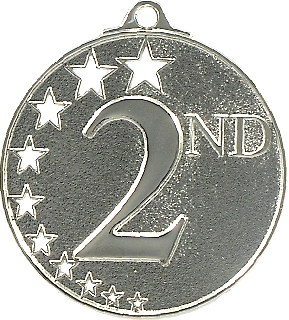 Second Place Stars Medal Silver