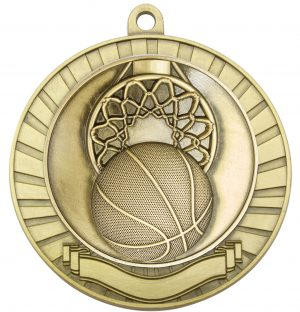 Eco Scroll Basketball Gold