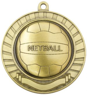 Eco Scroll Netball Gold