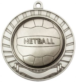 Eco Scroll Netball Silver