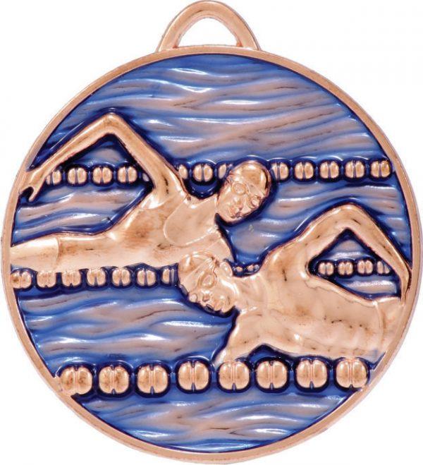 Swim Medal Painted Bronze