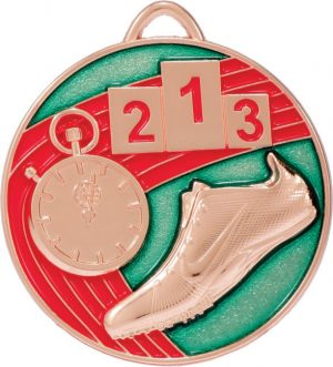 Track Medal Painted Bronze