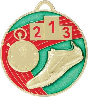 Track Medal Painted Gold