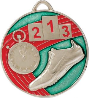 Track Medal Painted Silver