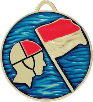 Lifesaving Medal Painted Gold