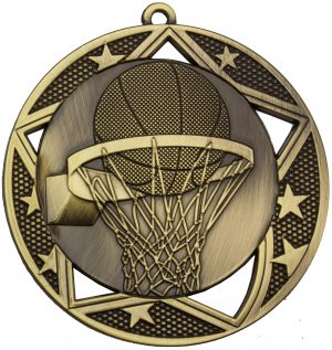Basketball Galaxy Medal Gold