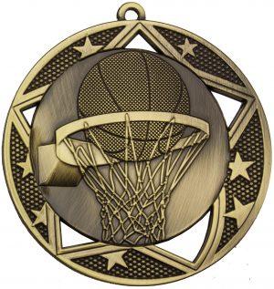 Basketball Galaxy Medal Gold