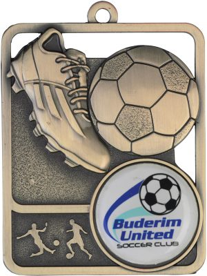 Soccer Medal Rosetta Option Gold
