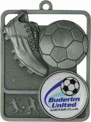 Soccer Medal Rosetta Option Silver