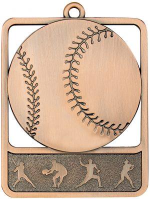 Baseball Medal Rosetta Bronze