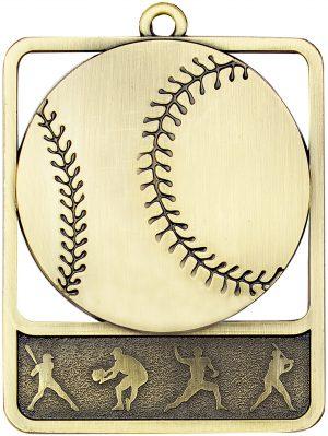 Baseball Medal Rosetta Gold