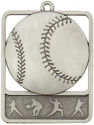 Baseball Medal Rosetta Silver