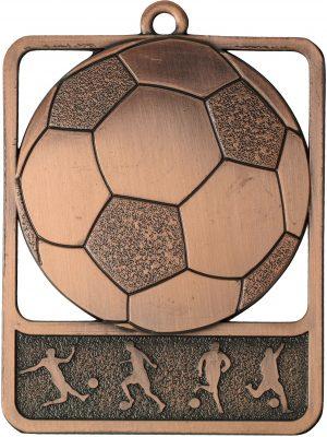 Soccer Medal Rosetta Bronze