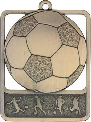 Soccer Medal Rosetta Gold