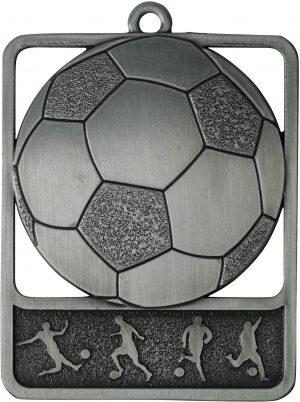 Soccer Medal Rosetta Silver