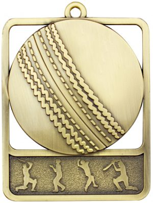 Cricket Medal Rosetta Gold