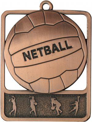 Netball Medal Rosetta Bronze