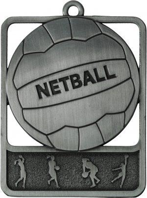 Netball Medal Rosetta Silver