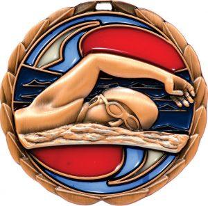 Swim Stained Glass Bronze