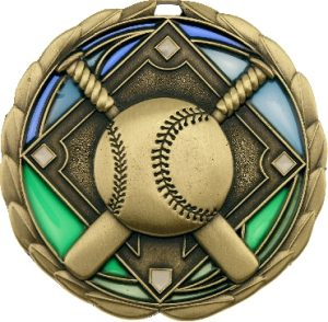 Baseball Stained Glass Gold