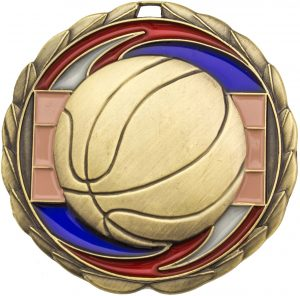 Basketball Stained Glass Gold