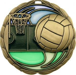 Netball Stained Glass Gold