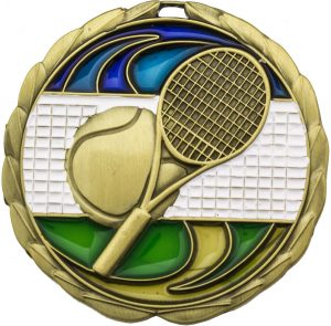Tennis Stained Glass Gold