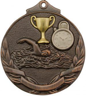 Swim Two Tone Medal Bronze