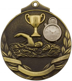 Swim Two Tone Medal Gold