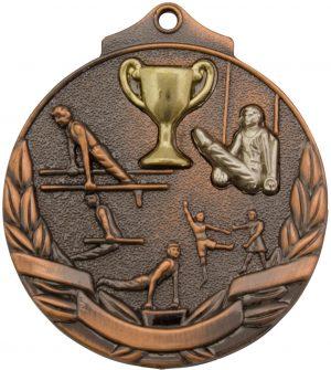 Gymnastics Two Tone Medal Bronze
