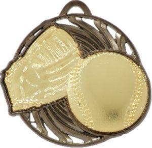 Baseball Vortex Medal Gold