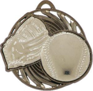Baseball Vortex Medal Silver