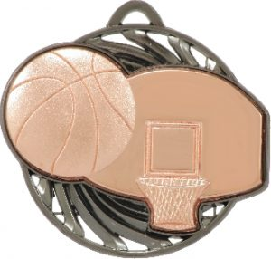 Basketball Vortex Medal Bronze