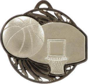 Basketball Vortex Medal Silver