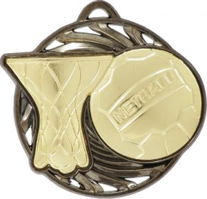 Netball Vortex Medal Gold